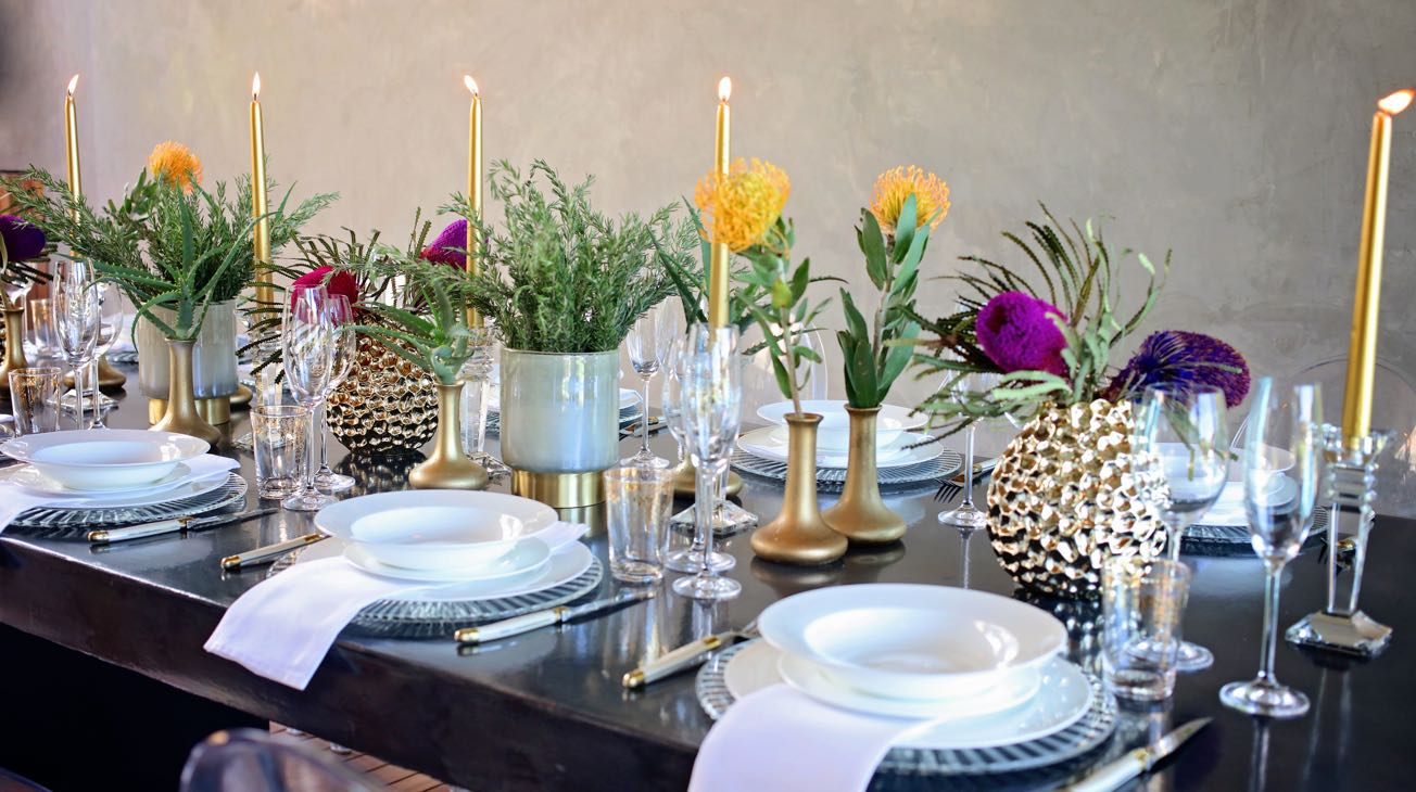 Hire Gold Beaten Vases Luxury Decor