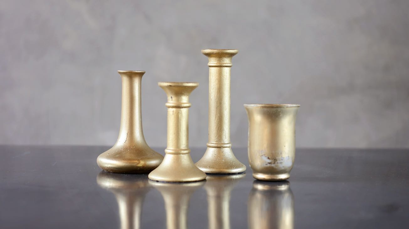 Hire Gold Glass Votives Luxury Decor