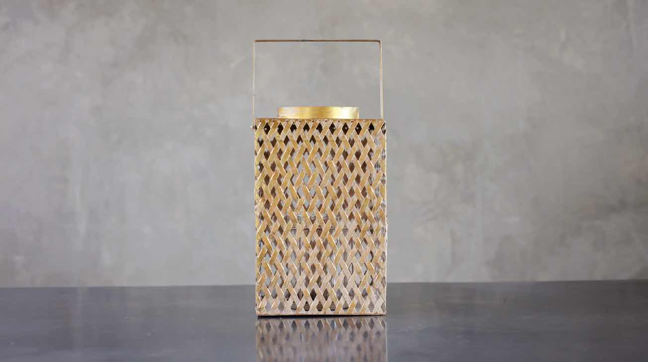 Hire Gold Lattice Lanterns Luxury Decor