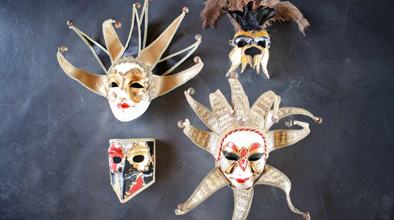 Hire Venetian Masks Luxury Decor