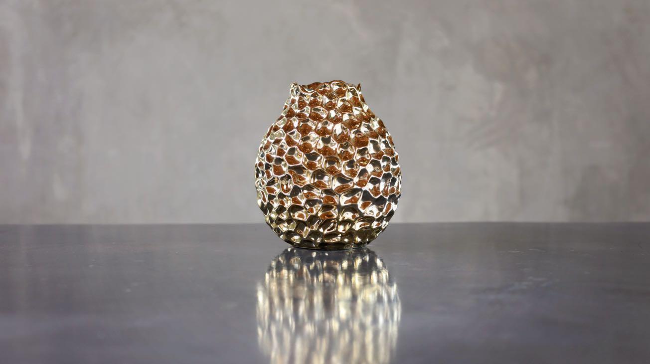 Hire Gold Beaten Vases Luxury Decor