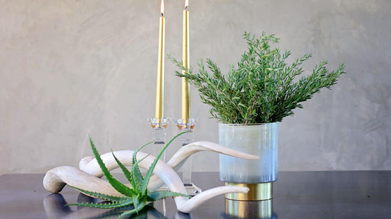 Hire Crystal Candle Pillars Luxury Decor