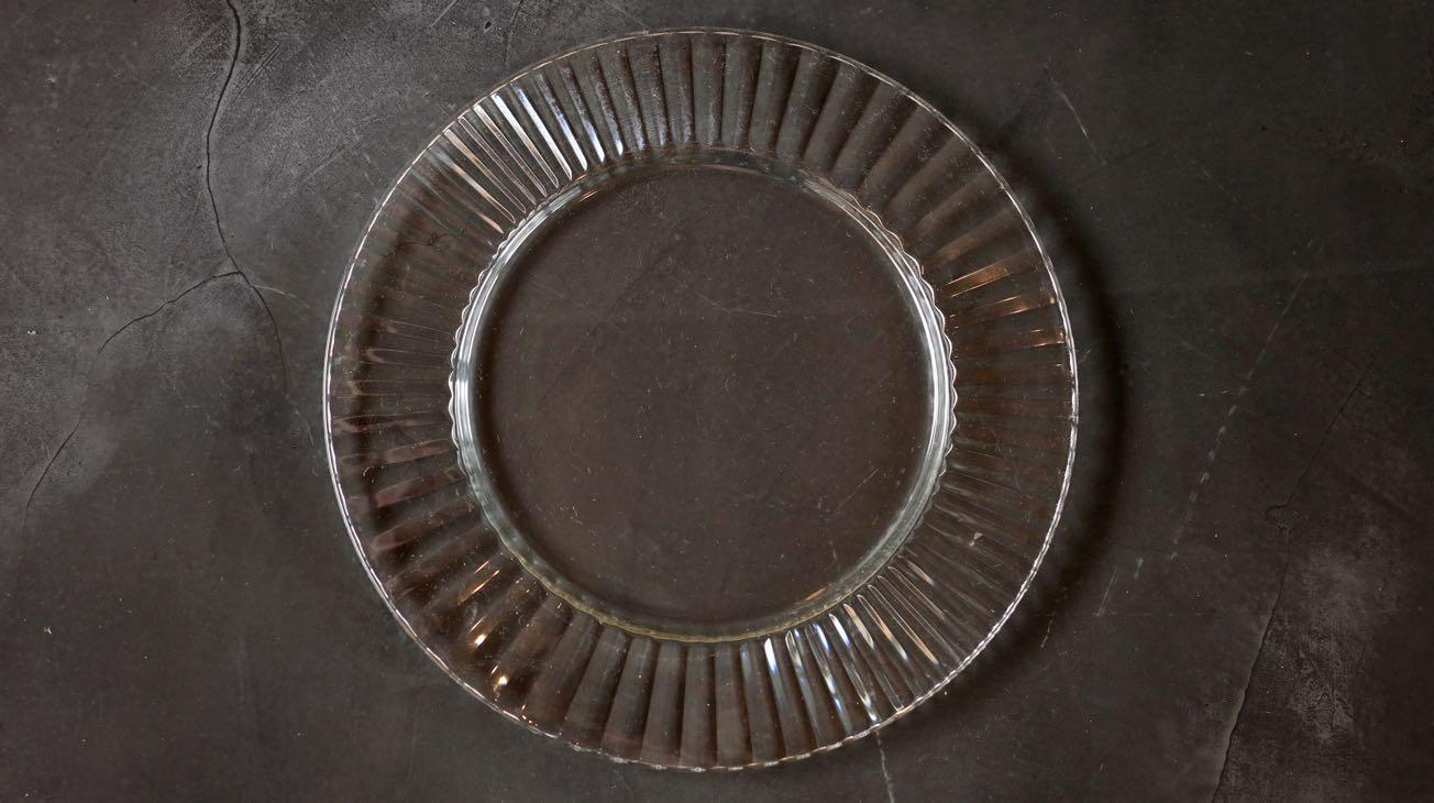 Hire Glass Fan Cut Plate Liners Luxury Decor