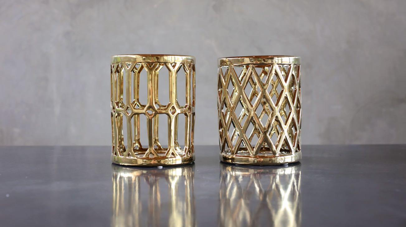 Hire Gold Hurricane Lanterns Luxury Decor
