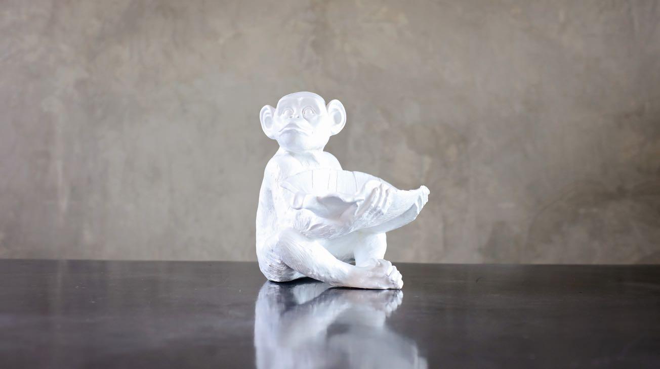 Hire White Monkey Bowl Luxury Decor