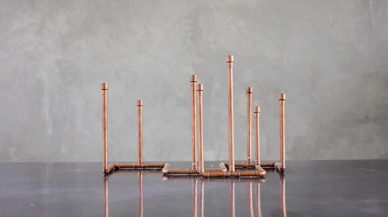 Hire Copper Candle Holders Luxury Decor