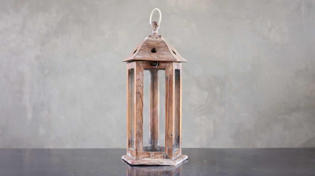 Hire Wooden Lanterns Luxury Decor